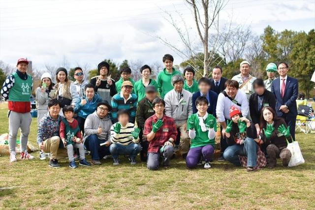 mineo green projectコラボそうじ!@寝屋川公園