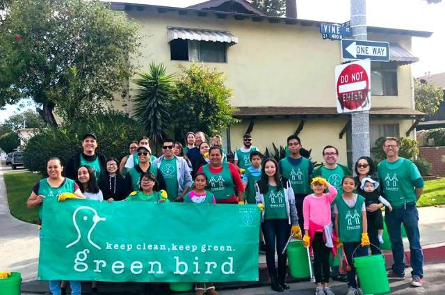 Green Bird Cleanup at Sycamore & Vine Neighborhood